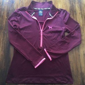 PINK Pullover Half Zip Sweater
